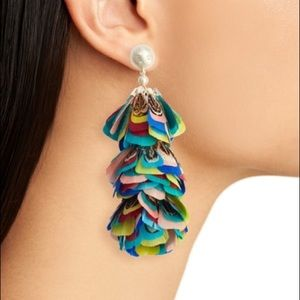 Lenni Tiered Feather Earrings KENDRA SCOTT New